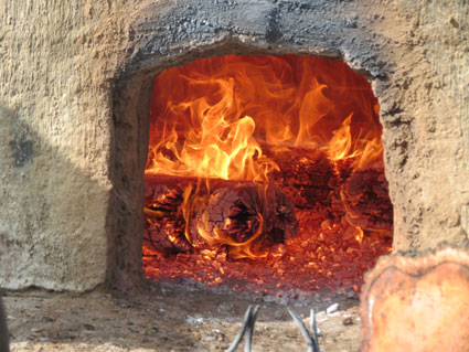 Clay oven at Mexicat